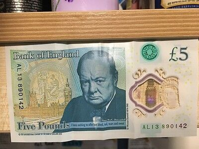 NEW Five pound note with Name  ALI BANK OF ENGLAND