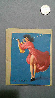 Vintage Hillwood Quality Tacks Advertisement Pin-Up Girl