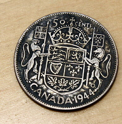 1944 Canada 50 Cents Silver