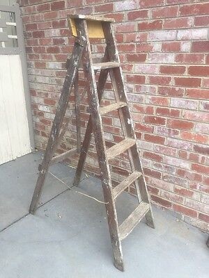 Vintage L T Kennett Ladder Wooden Timber Electrician Tool Display