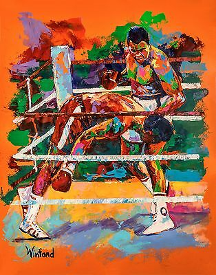 70%sale Muhammad Ali, G Foreman 14 X 11 Canvas & 2 Free Prints Signed By Winford