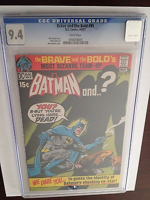 Brave and the Bold #95 - CGC 9.4 WHITE Pages - Neal Adams Cover