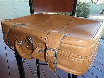 LUGGAGE/SUITCASE - soft case - Retro style, TAN leather look