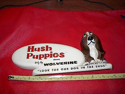Vintage Advertising Hush Puppies Shoes counter display stand,sign