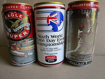 3 X Great West End Collectable Beer Cans..