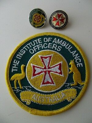 Obsolete/Defunct Institute Of Ambulance Officers Australia Pin/Patch/Health Pin