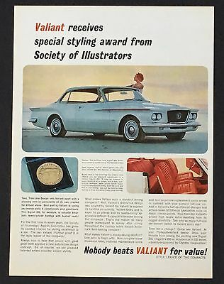 1962 Plymouth Valiant Original Advertisement Color Photo Car AD Special Styling