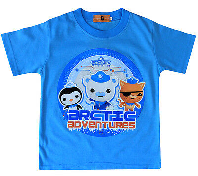 New Sz 1-4 Kids Summer T-Shirt Octonauts Outfit Top Tee Boys Pyjamas Shirt Pjs