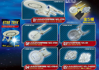 F-TOY STAR TREK STARFLEET COLLECTION REBOOT Painted Model Kit complete set