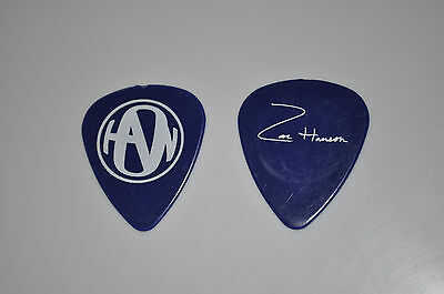Zac Hanson BLUE LOGO guitar pick!