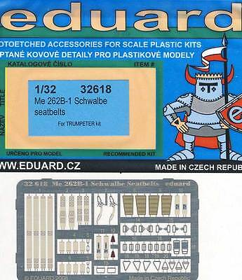 eduard Seatbelts Me-262B-1 Schwalbe Seatbelts Etched parts 1:32 model kit set