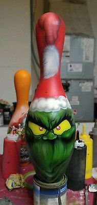The grinch that stole Christmas  custom painted bowling pins