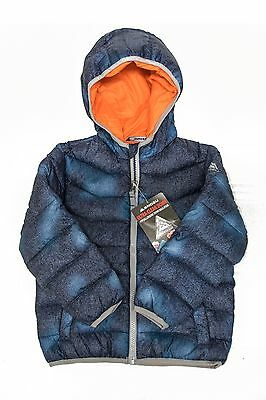New Young Boys Snozu  Lined Down Jacket Puffer Coat Hooded Size 6