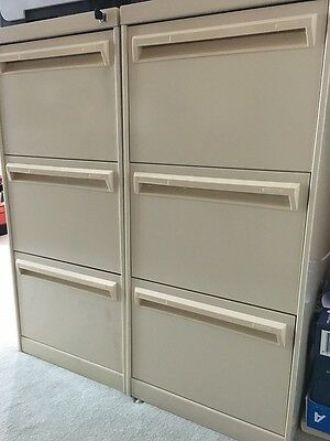 2 x Namco Dimension 3 Draw Filing Cabinets