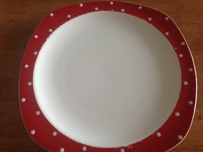 Retro Vintage Polka Dot/Domino Style Craft Midwinter  Dinner Plate #2 1950's