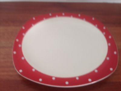 Retro Vintage Polka Dot/Domino Style Craft Midwinter  Dinner Plate #3 1950's