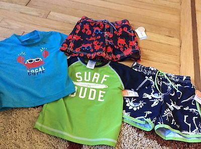 Set Of Two Boys Carter's Bathing Suits Size 24 Months