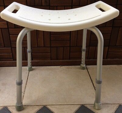 Adjustable Bath And Shower Seat Chair With Non Slip Seat White