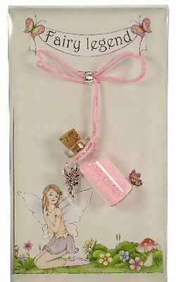Fairy Dust Necklace In Box Pink / Purple / Blue Girls Fairy Wish Necklace