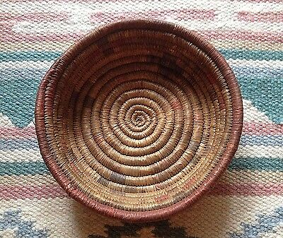Antique Woven Native Cahuilla Indian Basket, Southern California Missions