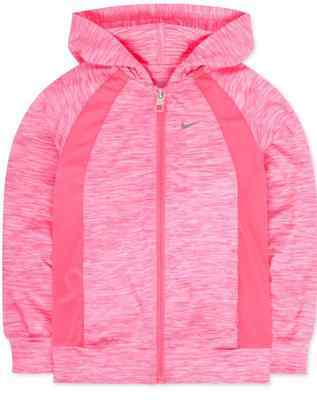 Nike Little Girls' Sports Hoodie size 4,6,6X polyester Pink $44 dri-fit
