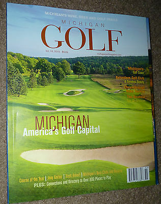 2015 MICHIGAN GOLF MAGAZINE TRAVEL GUIDE 800 Places To Play MAPS ADVERTISING FUN