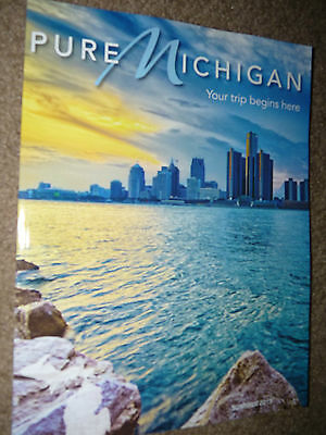 2015 Pure Michigan Travel Guide Maps Advertising Fun Great Lakes Water Photos !!