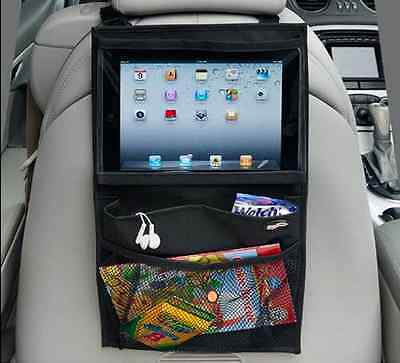 Car Back Seat Organiser Travel Storage Bag iPad Air Mini Holder Tablet Pocket