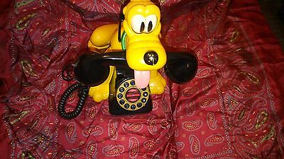 vintage walt disney official pluto land line phone 30cm tall very collectable