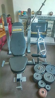 weight 90kg weights bench and bars