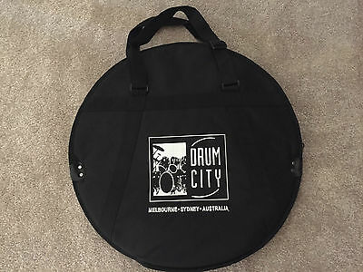 """Drum City branded 3 slot padded soft case : 24"""" CYMBAL TRAVEL BAG with dividers"""