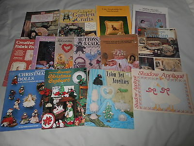 BULK LOT OF MIXED CRAFT BOOKS a total of 14 books includes SEWING AND EMBROIDERY