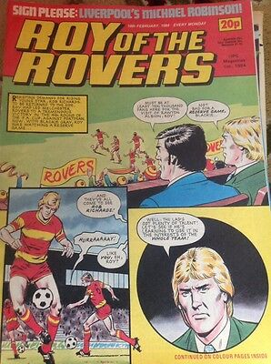 rare magazine comic Roy Of The Rovers February 18th 1984