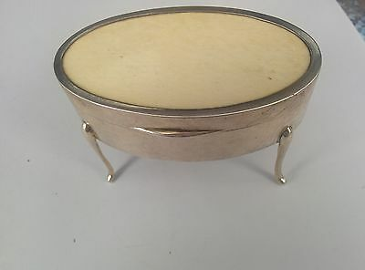 Antique Solid Sterling Silver Jewellery Box