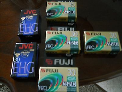 6 Vhs-C Tapes ---New In Package