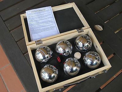 BENZER BOULES or PETAMQUE or BOCCE - Boxed Set