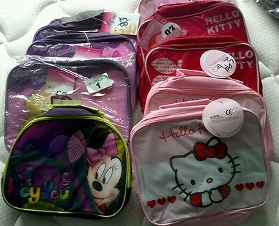 9 x GIRLS NEW PACK  LUNCH BAGS FOREVER FRIENDS/HELLO KITTY JOB LOT