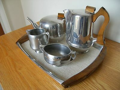Vintage Picquot 4 piece tea and coffee set with tray