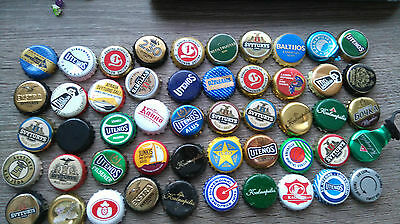 beer caps used rare from lithuania (50 pcs.)(7)