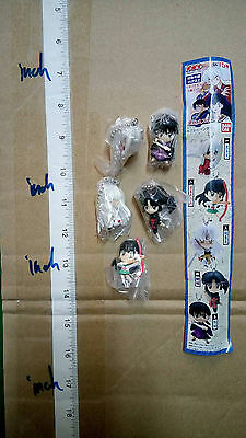 Bandai Inuyasha strap key chain swing figure gashapon x5