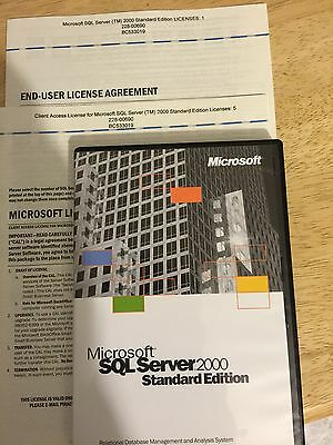 Microsoft SQL Server 2000 Standard Edition with 5 CAL's
