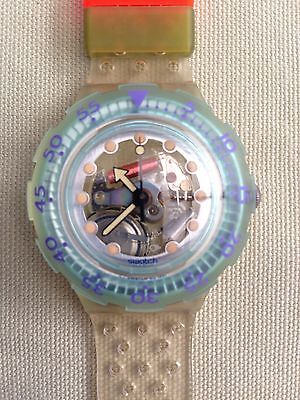 Swatch Scuba Watch 1991 Vintage SDK104 Jelly Bubbles As New