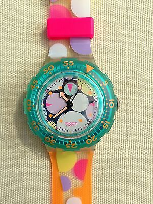 Swatch Scuba Watch 1991 Vintage SDK105 Sea Grapes As New