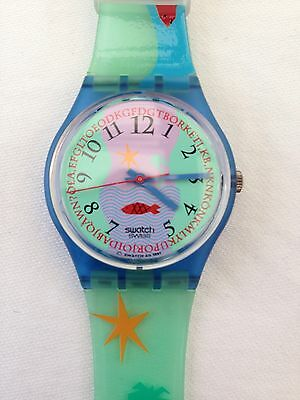 Swatch Hookipa Watch 1992 Vintage GN118 As New