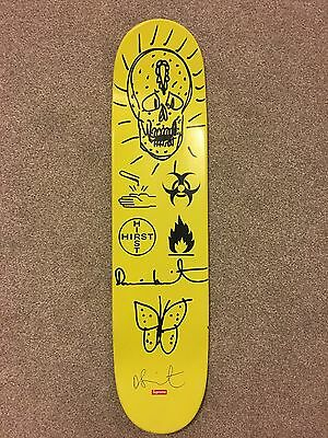 Damien Hirst Skull Hand Drawn Supreme Skateboard deck Signed 1 of 40 with COA