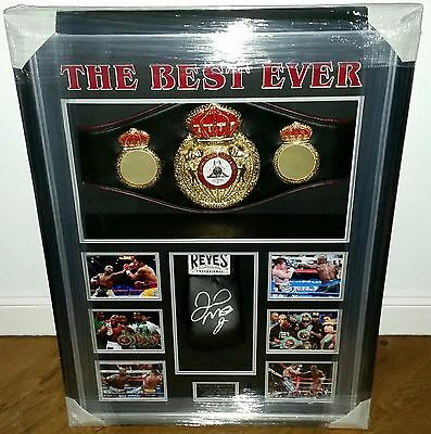 Floyd Mayweather Signed GLOVE Autograph LUXURY Display and boxing Belt