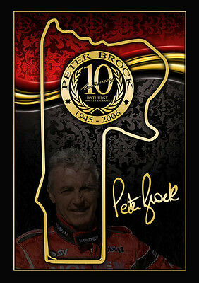 Peter Brock 10th Anniversary Edition Print, V8 Supercars, Holden, Ford