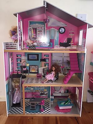 Dolls House, Dolls, Barbie Plane, Car And Outdoor Setting
