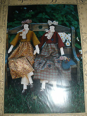 Martha & Myrtle cloth doll pattern by Mums Moment