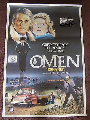 26 x 39 TURKISH POSTER - THE OMEN - 1976 - GREGORY PECK LEE REMICK DAVID WARNER